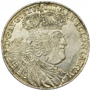 August III Sas, Ort Lipsk 1755 EC Efraimek - kropka po dacie