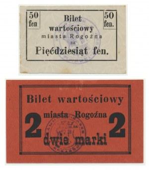Rogoźno, zestaw 50 fenigów i 2 marki 1919