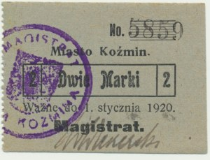 Koźmin, 2 marki 1920