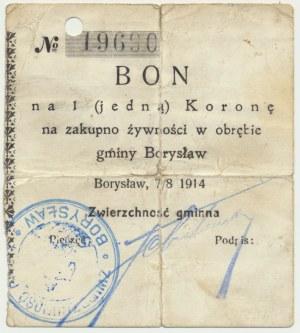 Borysław, 1 korona 1914 - RZADKOŚĆ