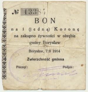 Borysław, 1 korona 1914 - niekasowany - RZADKOŚĆ