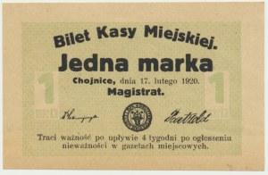 Chojnice, 1 marka 1920 - blankiet