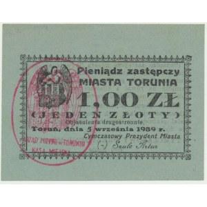 Toruń, 1 złoty 1939 - RZADKI