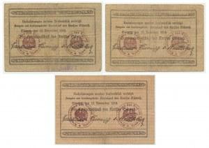 Schwetz (Świecie) - zestaw 5, 20 i 50 marek - Emisja Polska