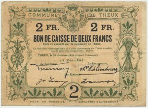 Belgia (Theux), 2 franki 1914