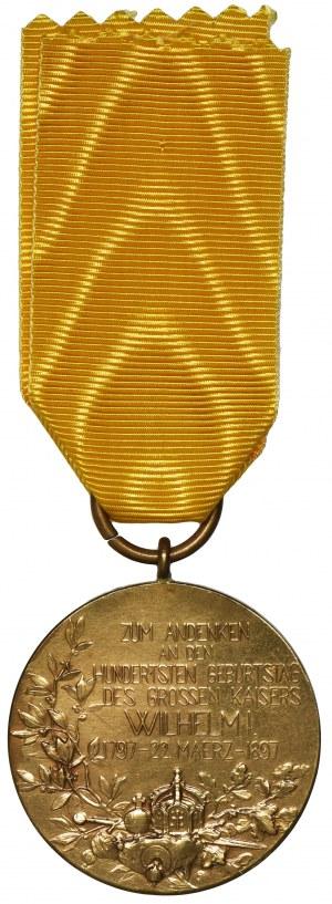 Niemcy, Prusy, Medal z okazji 100-lecia urodzin Wilhelma I