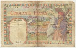 Algeria, 50 francs 1939