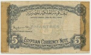 Egypt, 5 piastres 1940