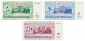 Transnistria, set of 1-10 rubles 1994 (3 pcs.)