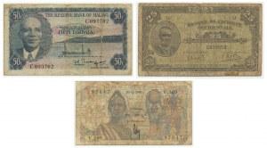 East Africa, set of 5-25 francs, 50 rambalas (3 pcs.)