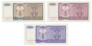 Serbia, zestaw 20 milionów - 5 miliardów 1993