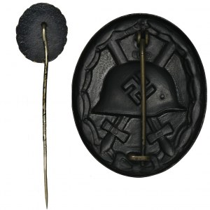 Niemcy, III Rzesza, Odznaka Za Rany 1939 Czarna oraz miniaturka