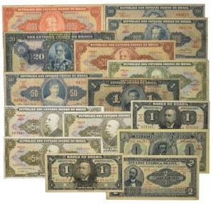 Brazylia, zestaw 1 - 1.000 (15 szt.)