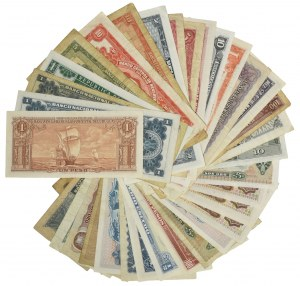 South America, set of various banknotes (34 pcs.)