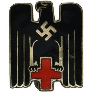 Niemcy, III Rzesza, Niemiecki Czerwony Krzyż - przypinka
