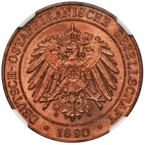 Niemiecka Afryka Wschodnia, 1 pesa 1890 - NGC MS64 RB