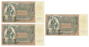 Rosja (Rosja Południowa), zestaw 5.000 rubli 1919 (3 szt.)
