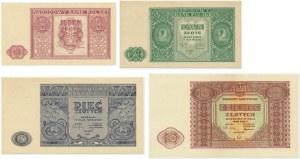 Zestaw, 1 - 10 złotych 1946 (4 szt.)