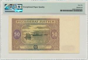 50 złotych 1946 - E - PMG 66 EPQ