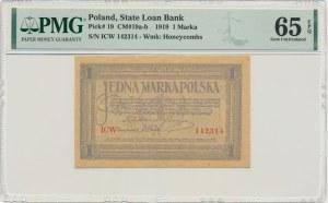 1 marka 1919 - ICW - PMG 65 EPQ