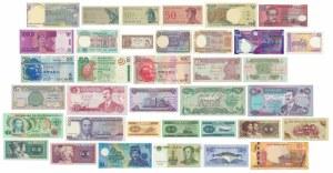 Azja, zestaw banknotów (36 szt.)