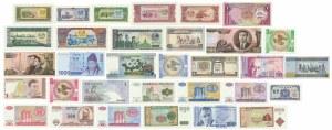 Azja, zestaw banknotów (32 szt.)