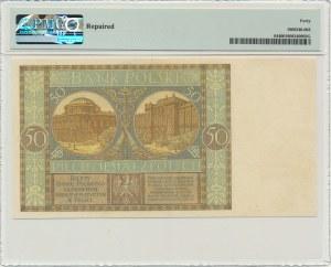 50 złotych 1925 - Ser. AM - PMG 40