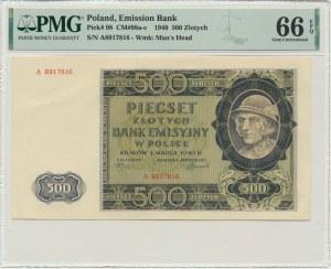 500 złotych 1940 - A - PMG 66 EPQ