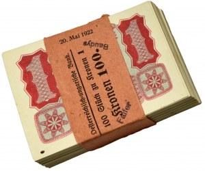Austria, paczka 1 korona 1922 (100szt.)