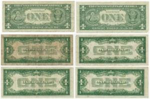 USA, set of 1 dollar 1928-1957 (6 pcs.) - Silver Certificates