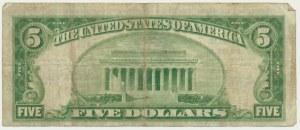 USA, Nowy York, 5 dolarów 1929