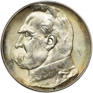 Piłsudski, 5 złotych 1936 - PCGS MS62