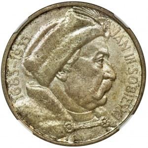 Sobieski, 10 złotych 1933 - NGC MS61