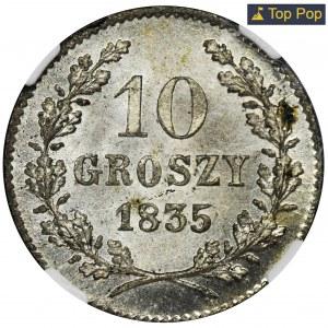 Wolne Miasto Kraków, 10 groszy 1835 - NGC MS66