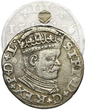Stephen Bathory, 3 Groschen Riga 1586