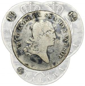 Duchy of Warsaw, 1/6 Thaler Warsaw 1812 IB - RARE