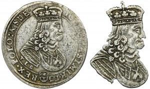 Jan II Kazimierz, Ort Bydgoszcz 1668 TLB - małe popiersie