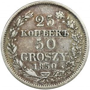 25 kopiejek = 50 groszy Warszawa 1850 MW