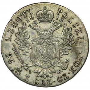 Królestwo Polskie, 1 złoty polski Warszawa 1818 IB
