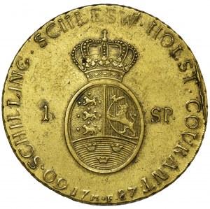 Dania, Królestwo Danii, Książe Schleswig-Holstein, Christian VII, 1 Speciestaler (60 Schilling) 1787