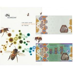 PWPW, Pszczoła (2013) - HH 6060606 - numeracja czerwona + podłoże - w folderze Guardian - RZADKIE