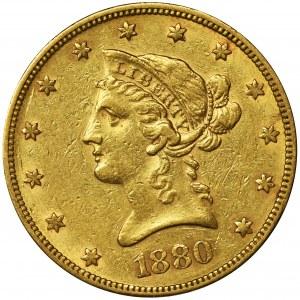 USA, 10 Dollars Philadelphia 1880 - Liberty Head