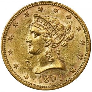 USA, 10 Dollars Philadelphia 1894 - Liberty Head
