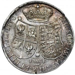 Augustus III of Poland, Thaler Dresden 1750 FWôF - RARE