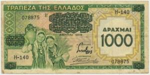 Grecja, 1.000 drachm 1939
