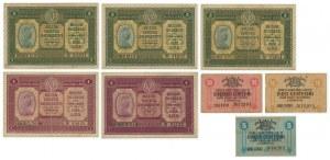 Italy, set of 5-50 cents, 1-2 lires 1918 (8 szt.)