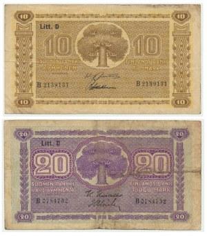 Finland, 10 - 20 mark 1939 (2pcs.)