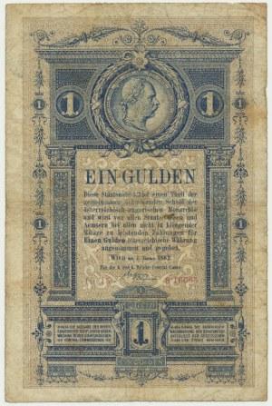 Austria, 1 gulden 1882