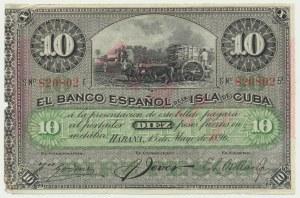 Kuba, 10 peso 1896