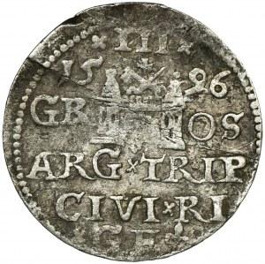 Sigismund III Vasa, 3 Groschen Riga 1596 - LI
